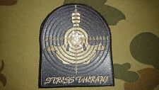 NEW STRESS THERAPY TARGET GREY KHAKI TACTICAL MORALE AIRSOFT PATCH AUSTRALIA AUS