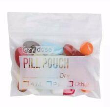 Marijuana Ziplock Pouches 100 Count Ezy Dose Reusable Plastic Blank Label Area