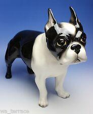 "Boston Terrier 16"" Large Size Statue Standing Dog Porcelain Figurine Japan NEW"