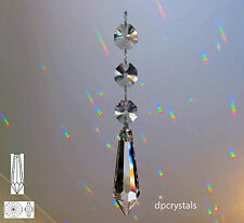 Sun catcher Hanging Crystal Feng Shui Rainbow Prisms with Swarovski Octagons
