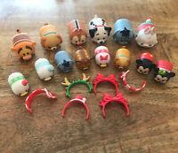 Disney Tsum Tsum Vinyl Figures Lot of 20 pieces: Christmas + Accessories Lot #1