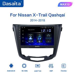 Dasaita for Nissan Qashqai j11 X-Trail Rouge 2014-2018 single Din Car Stereo