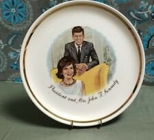 Vintage President and Mrs. John F. Kennedy Collector plate Gold Band