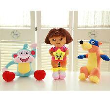 "3X 25cm/10"" Dora Explorer Swiper Fox Boot Monkey Plush Kid Toy Birthday Gift"