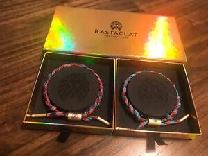 Rastaclat Camaraderie LIONS HEAD Classic Men's Braided Bracelet Box Set (2 Pack)