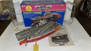 1980's Galoob Micro Machines Aircraft Carrier. Complete in Original Packaging.