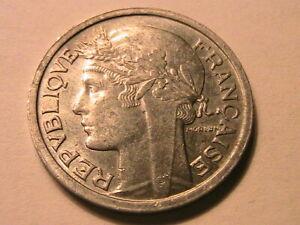 1950-B France 1 Franc BU Very Lustrous Choice BU Scarce French One Franc Coin