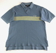 Vintage 90s Polo Sport Blue Striped Polo Shirt Ralph Lauren Size Small
