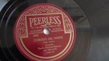 Dueto Sanchez- Bacerra - 78rpm single 10-inch – Peerless #1869 Corrido Del Norte