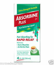 Absorbine Plus Jr Pain Relieving Liquid 4 oz (889476412049)