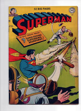 SUPERMAN 66, F/VF (7.0), 1950 DC COMICS, COOL BASEBALL COVER, SHARP