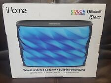 iHome iBT84B Portable Splashproof Color Changing Rechargeable Bluetooth Speaker