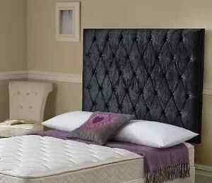 Audrey High Deep Buttoned 4ft6 double headboard for bed all colours NEW