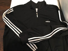 Mens Adidas Zip Front Track Jacket Top Sports Sweatshirt Size usa XL~Black