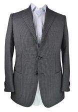 Sartoria CASTANGIA Wool~Mohair~Cashmere Gray Suit 42 (EU 52) Handmade in Italy