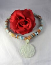 Gorgeous Gemstone Beaded Open Work Necklace  CAT RESCUE