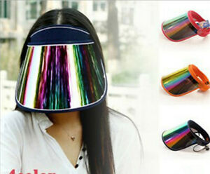 New Multi-color 360 Degree Face Shield Clear Outdoor Visor Splash proof Sun Hats