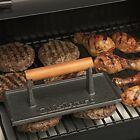 New Barbecue Grill Steak Cast Iron Grill Press Bacon Meat Hamburger Patty Steak