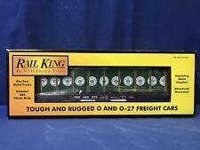 Rail King MTH 30-76011 PENNSYLVANIA FLAT CAR W/BULKHEADS & LUMBER LOAD FREE SHIP