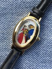 VINTAGE DISNEY BEAUTY AND THE BEAST LIMITED EDITION COLLECTORS WATCH OVAL FACE