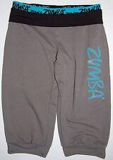 Zumba Wear Harem Pants M Gray / Turquoise Crop Pant Knicker Style