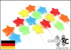 15x Sternkerze Kerze Feier Fest Stern Sterne Geburtstagskerze Happy Birthday