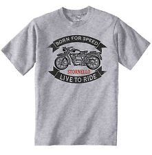 MOTO GUZZI STORNELLO - NEW COTTON GREY TSHIRT - ALL SIZES IN STOCK