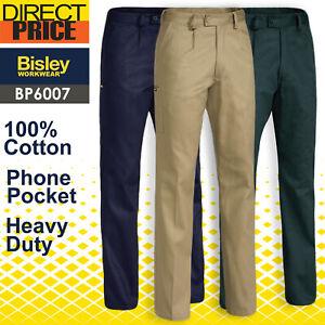 Bisley Work Pants Mens Original Cotton Drill Heavy duty BP6007 NEW