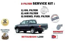 Per Mitsubishi L200 Pick-Up 2.5 D TD 1993-1996 Olio Aria Carburante Filtro Servizio Kit
