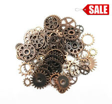 70Pcs Copper Assorted Steampunk Antique Gears Skeleton Clock Watch Gear Crafts