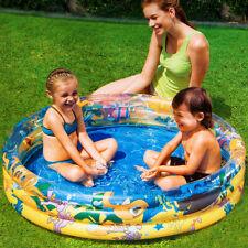 Bestway piscina hinchable infantil 3 anillos 122x25cm acuario circular