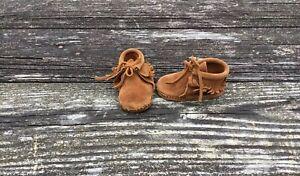 Minnetonka Unisex Child Fringe Suede Booties Size 3 Toddler