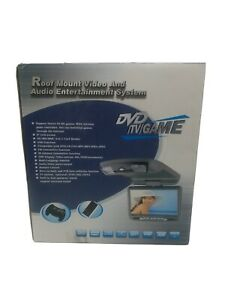 """Widescreen 9"""" LCD Ceiling-Mount Car Monitor with Remote and Gaming"""