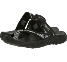 15453a4ce New ListingSkechers Womens Reggae Sparkle Swag Sandals Sizes 9 Black Toe  Thong
