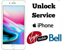 BELL VIRGIN FACTORY UNLOCK SERVICE IPHONE X 8 8+ 7 7+ 6 6+ 5s 5c 5 4s 4