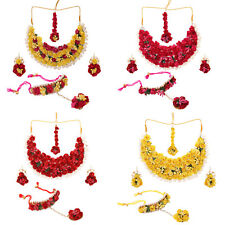 Jwellmart Indian Wedding Bridal Traditonal Mehandi Floral Jewelry Necklace Set