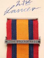 QSA KSA QUEENS SOUTH AFRICA 1902 MEDAL RIBBON BAR CLASP BOER WAR CAMPAIGN