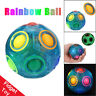 Luminous Stress Reliever Magic Rainbow Ball Fun Cube Fidget Puzzle Kig Toy UK