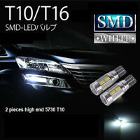 Pair T10 LED Park Light Interior light Super White 6000k Canbus Error Free W5W