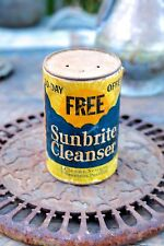 "Vintage Sunbrite Cleanser 14 Ounce Container ""Cleans Scours Sweetens Purifies"" 1"