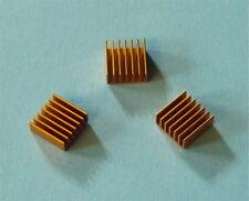 3 X Aluminium Heatsink Kühlkörper bronze 14x14x6mm Alu Kühler Cooler