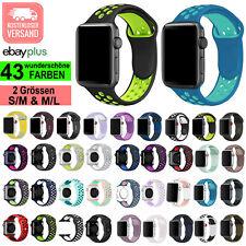 ? PREMIUM Sport Armband Silikon Sportarmband f Apple Watch Series 1 2 3 4 5 6 SE