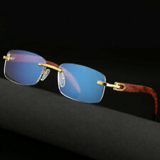 Wood Glasses Frame Men Rimless Eyeglasses Frames Wooden Gold 2019 New