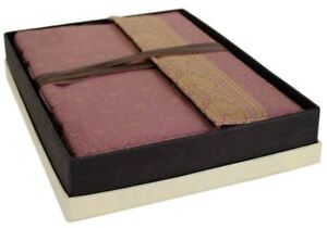 Sari Silk Journal Lilac, A4 Plain Pages - Handmade by Life Arts