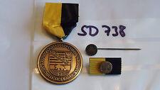 Orden Sachsen Anhalt 2002 Fluthilfe Hochwasser bronze + 9mm Nadel ,Spange(sd738)