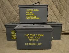 (4 PACK) 50 Cal M2A1 AMMO CAN VERY GOOD CONDITION * FREE SHIPPING *