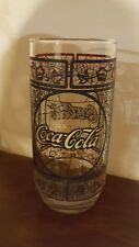 Vintage Enjoy Coca-Cola Drinking Glass Tiffany Style Stained Glass