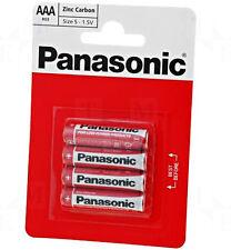 4 PCS (4 PCS X 1 CARD) AAA PANASONIC 1.5V ZINC CARBON BATTERIES