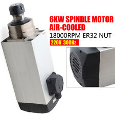 Cnc Spindle Motor Er32 Air Cooled Cnc Router Mill Machine Engraving Grinding 6kw