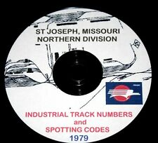 Missouri Pacific 1979 St Joseph Track Numbers & Spotting Codes PDF Pages on DVD